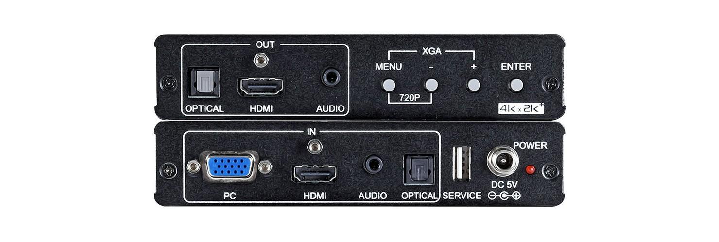 Escalador HDMI VGA a HDMI 4K