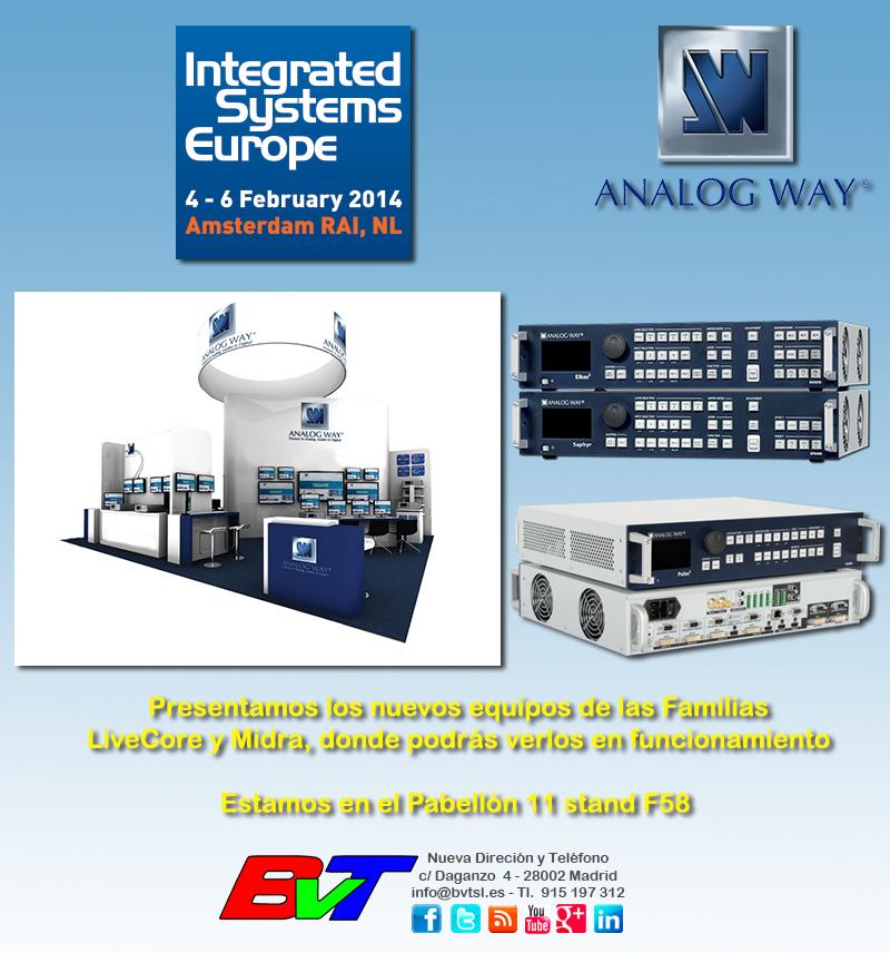 Analog Way en ISE 2014