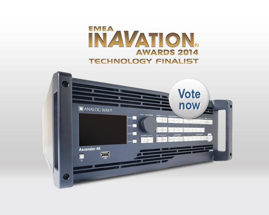 Technology InAVation Awards 2014- Ascender 48 de Analog Way