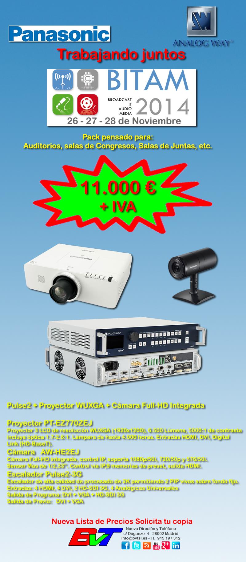 Analog Way y Panasonic Oferta Especial en BITAM
