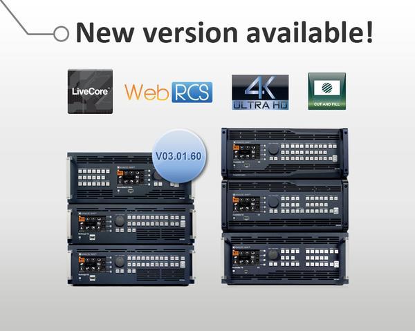 Nueva Version Firmware LiveCore de Analog Way