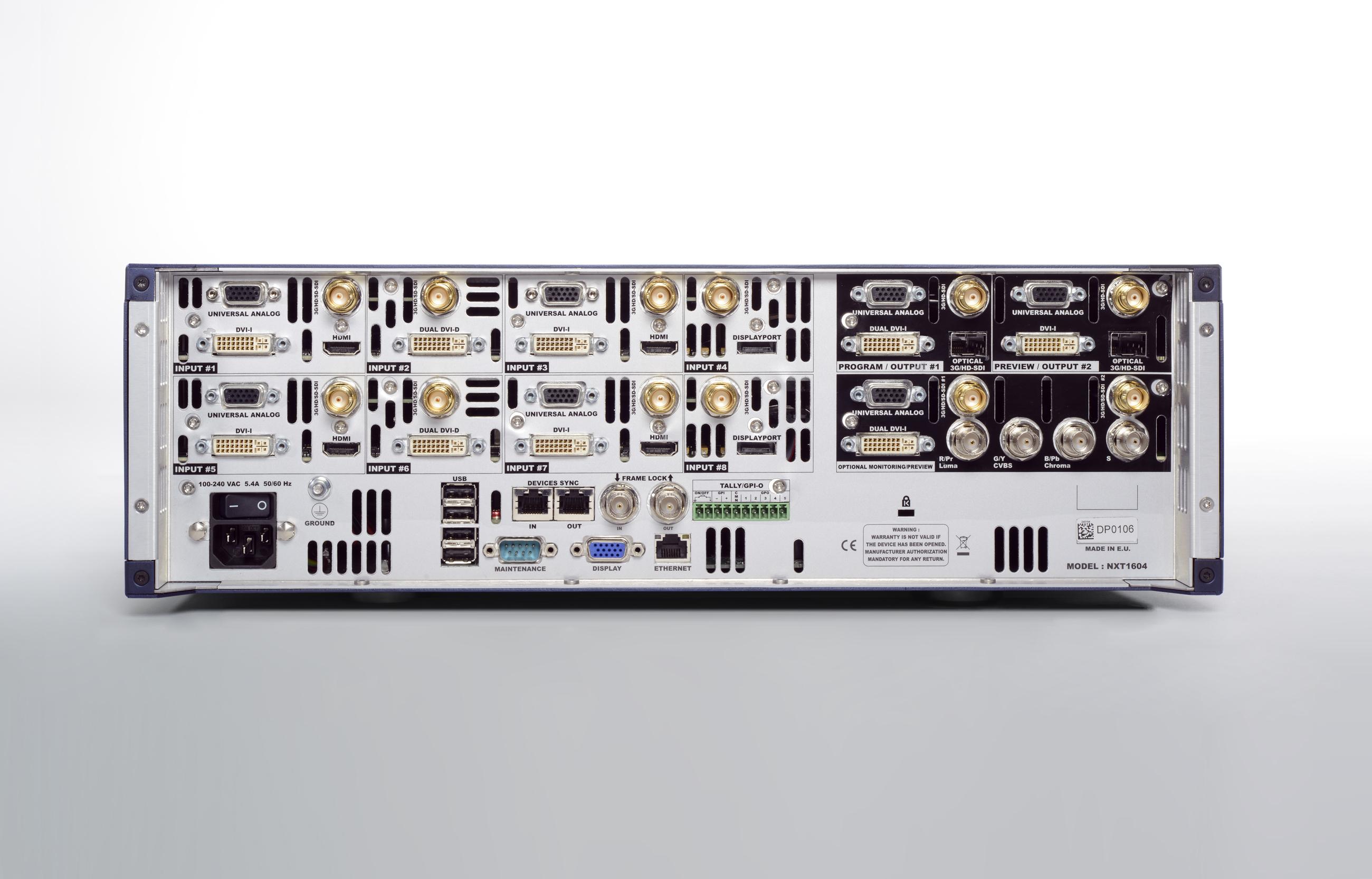 Nextage 16, procesador AV de alta gama de Anlog Way, con la nueva tecnoogía LiveCore