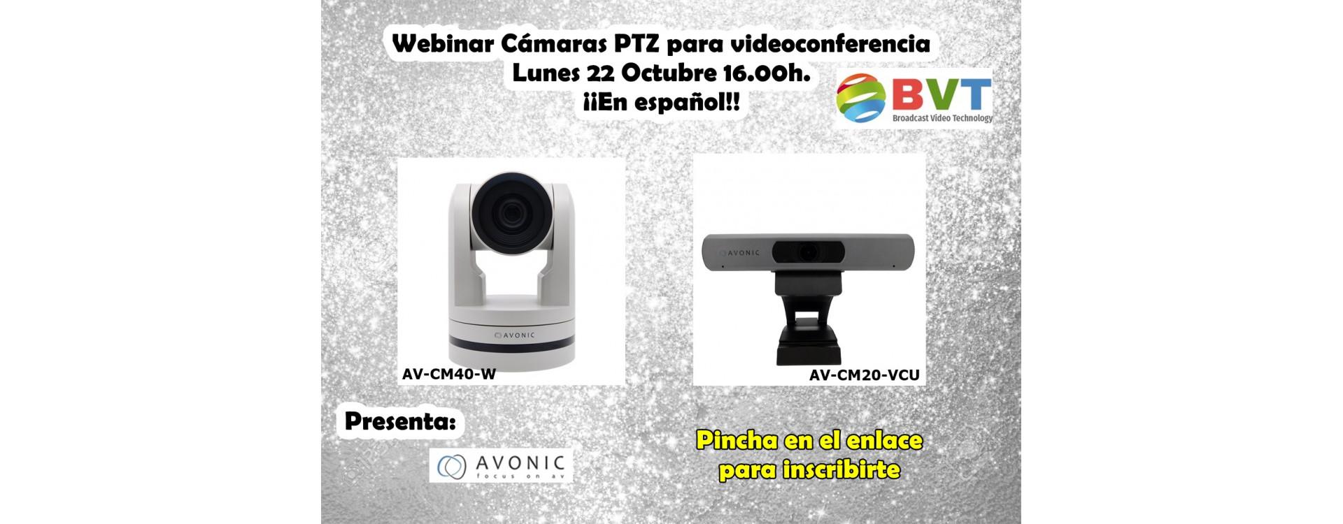 Webinar Cámaras PTZ para Videoconferencias próximo 22 de octubre de 2018